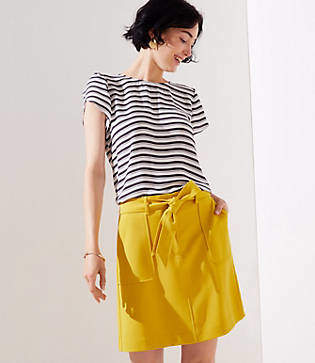 LOFT Tie Waist Shift Skirt