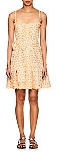 Lisa Marie Fernandez Women's Embroidered-Eyelet Cotton Minidress - Orange