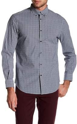 Perry Ellis Stretch Fit Plaid Button Down Shirt