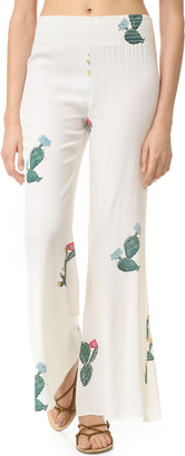 Wildfox Cactus Flower Bell Bottom Pants $125 thestylecure.com