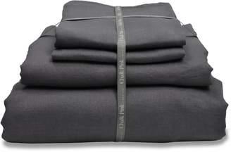 Chalk Pink Linen Company - Secret Grey Linen Bedding Set