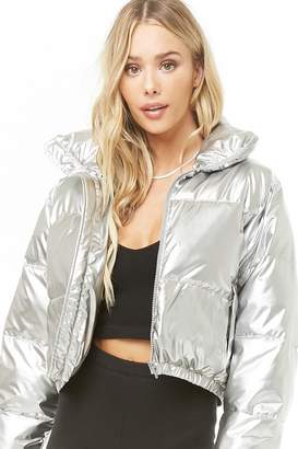Forever 21 Cropped Puffer Jacket