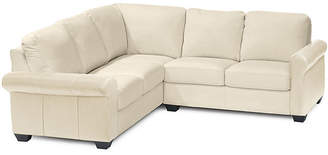 Asstd National Brand Leather Possibilities Roll-Arm 2-pc. Left-Arm Corner Sectional