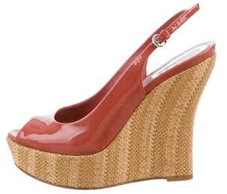 cc31d3c4f42de1 Pre-Owned at TheRealReal · Gucci Platform Peep-Toe Wedges
