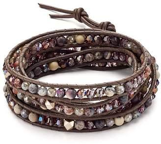 Chan Luu Garnet Wrap Bracelet in Sterling Silver