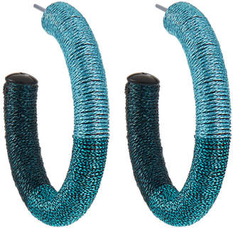 Lydell NYC Thread Wrapped Hoop Earrings