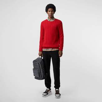 Burberry Cable Knit Cashmere Sweater, Red