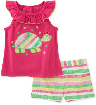 Kids Headquarters 2-Pc. Turtle Top & Shorts Set, Baby Girls (0-24 months) $30 thestylecure.com