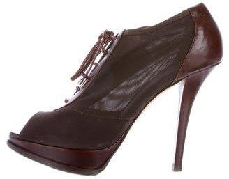 Christian Dior Mesh Peep-Toe Booties