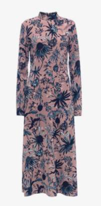 Markus Lupfer Arctic Flower Crepe Dress
