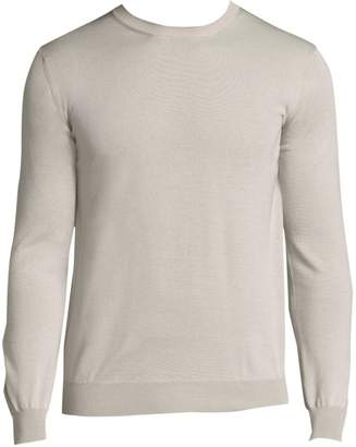 Eleventy Merino Wool & Silk Fine Gauge Cardigan Sweater
