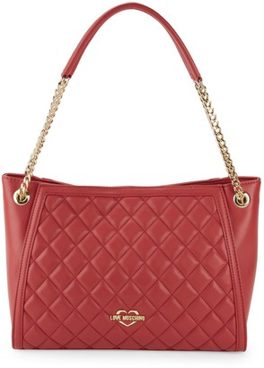 Love Moschino Quilted Chain-Strap Tote