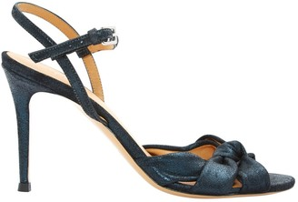 BA&SH Bash Blue Leather Sandals