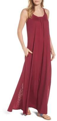 Caslon Twist Neck Maxi Dress (Regular, Petite & Plus Size)