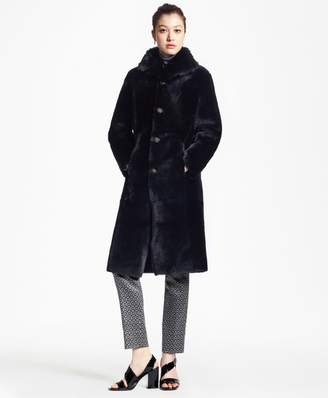 Brooks Brothers Reversible Shearling and Leather Coat