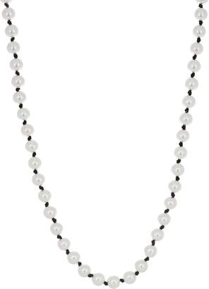 John Wind Simulated Pearl Necklace w/ Removable Charm