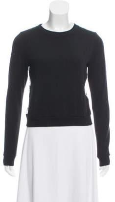 Alice + Olivia Lace-Back Crew Neck Sweater Black Lace-Back Crew Neck Sweater