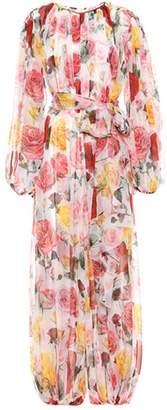 Dolce & Gabbana Floral-printed silk jumpsuit