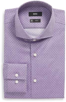 BOSS Jason Slim Fit Dot Dress Shirt