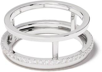 De Beers 18kt white gold The Horizon diamond ring