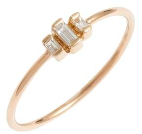 Chicco Zoe Diamond Baguette Stack Ring