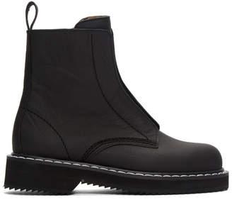 Jil Sander Navy Black Zip Boots
