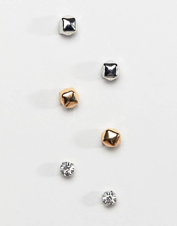 DesignB London DesignB stud earrings in multi