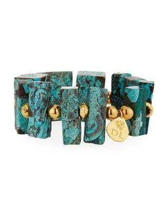 Devon Leigh Imperial Jasper Blocks Stretch Bracelet