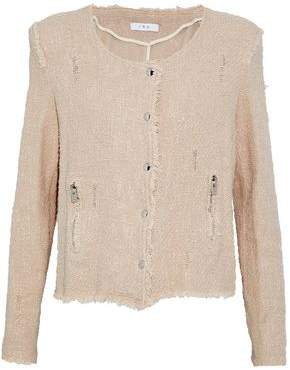 IRO Agnette Frayed Cotton Bouclé-Tweed Jacket