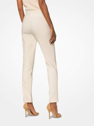 Michael Kors Stretch Pebble-Crepe Trousers