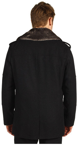 Cole Haan Double Breasted Wool Peacoat