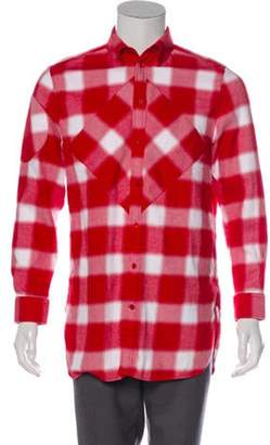 Givenchy Plaid Button-Up Shirt red Plaid Button-Up Shirt