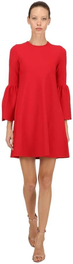 Milano Jersey Dress W/ Scalloped Cuffs