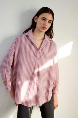 French Connenction Bega Stripe Dip Hem Shirt