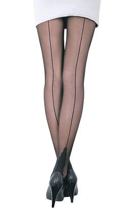 da29a9237e2 Conte elegant Stella Womens Sheer Back Seam Pantyhose Tights with  Decorative Heel