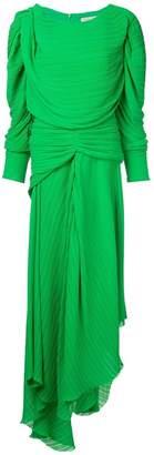 Preen by Thornton Bregazzi asymmetric pleated dress