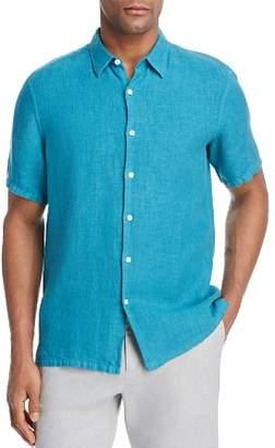 Theory Irving Summer Linen Short-Sleeve Regular Fit Shirt