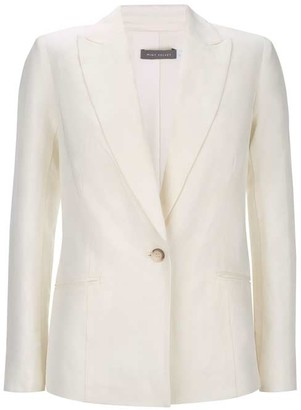 Mint Velvet Ivory Single Breasted Blazer