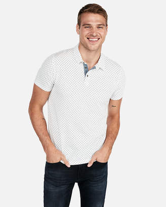 Express Dotted Jersey Polo