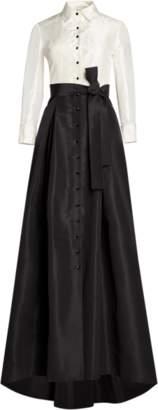 Carolina Herrera Icon Silk Taffeta Trench Gown