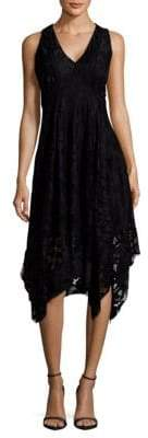 Taylor Lace Handkerchief Hem Dress