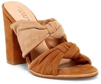 Cecelia New York Harper Knotted Block Heel Sandal $210 thestylecure.com