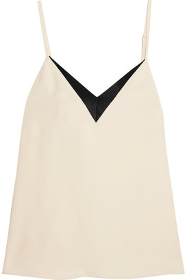Lanvin - Satin-trimmed Crepe Camisole - Ivory $790 thestylecure.com