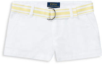 Ralph Lauren Belted Cotton Chino Shorts