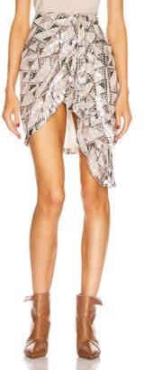 Isabel Marant Ixora Skirt in Ecru | FWRD