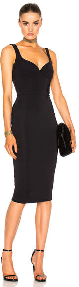 Victoria Beckham Dense Rib Cami Curve Fitted Dress