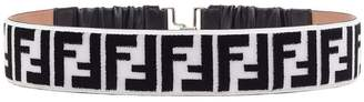 Fendi FF logo embroidered belt