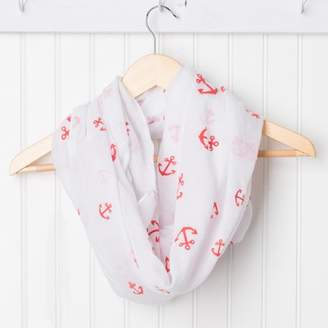 Tickled Pink Anchors Away Infinity Scarf, 30 x 35 Loop, 35% Cotton; 65% Polyester, Multiple Colors