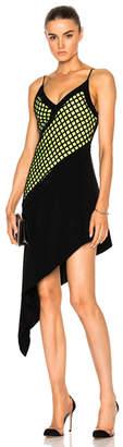 David Koma V-Cut Asymmetrical Hem Underlayer Dress
