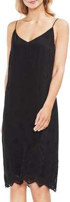 Vince Camuto Eyelet Scallop Dress